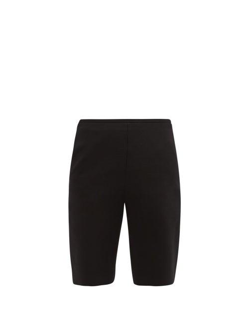 Valentino - Wool-blend Bermuda Shorts - Womens - Black