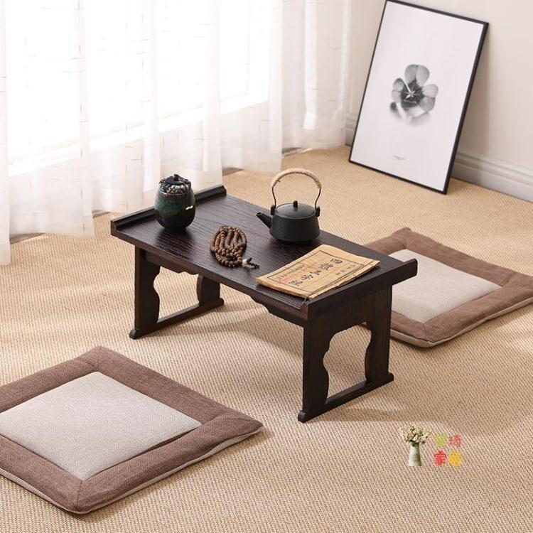 炕桌 榻榻米桌實木茶几家用炕桌折疊桌日式飄窗簡約小茶台新品陽台茶桌T