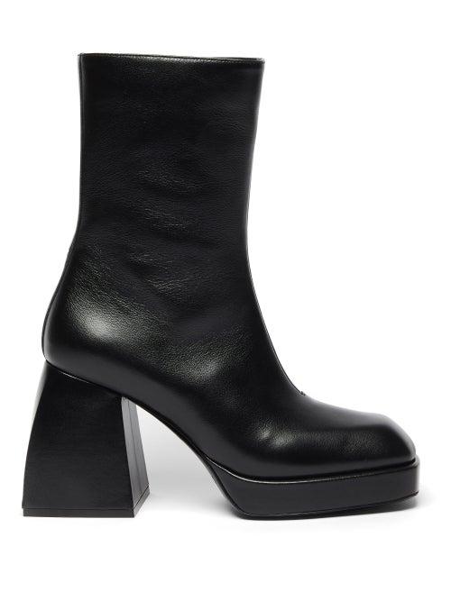 Nodaleto - Bulla Corta Leather Ankle Boots - Womens - Black