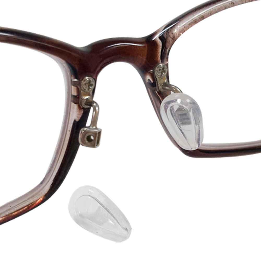 眼鏡專用空力氣浮式鼻墊(六對12入)(贈螺絲起子+鼻墊螺絲)