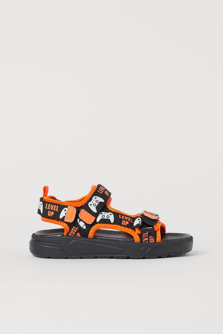 H & M - 潛水衣材質涼鞋 - 黑色
