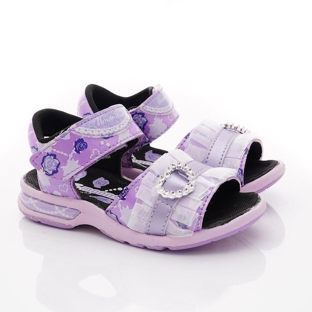 日本月星Moonstar機能童鞋涼鞋系列公主涼鞋款5147紫(中小童段)整點特賣(4/13/13:00)準時開搶