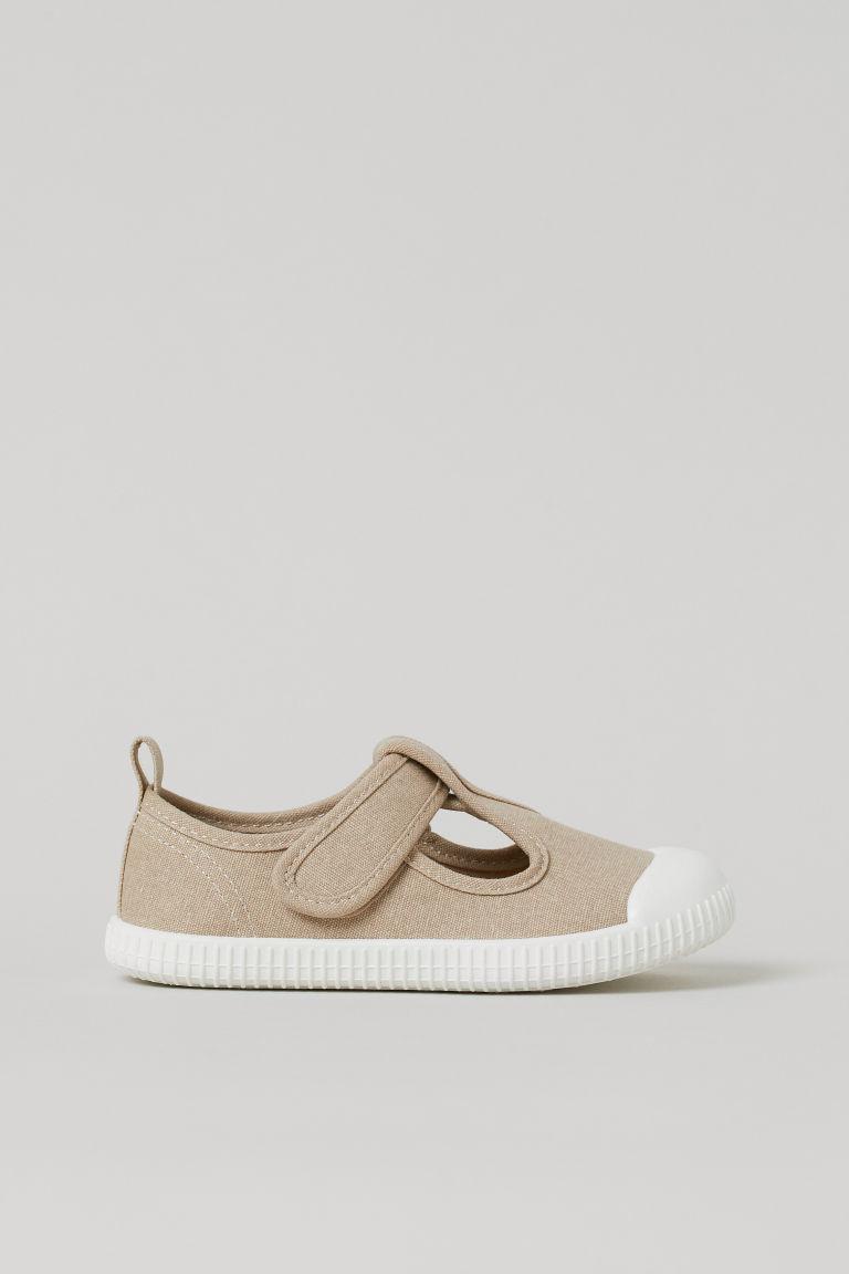 H & M - 帆布運動涼鞋 - 米黃色