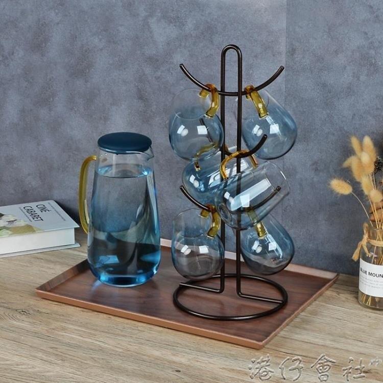 杯架-家用水杯架瀝水托盤置物架收納咖啡杯茶杯架倒掛馬克杯架放杯子架