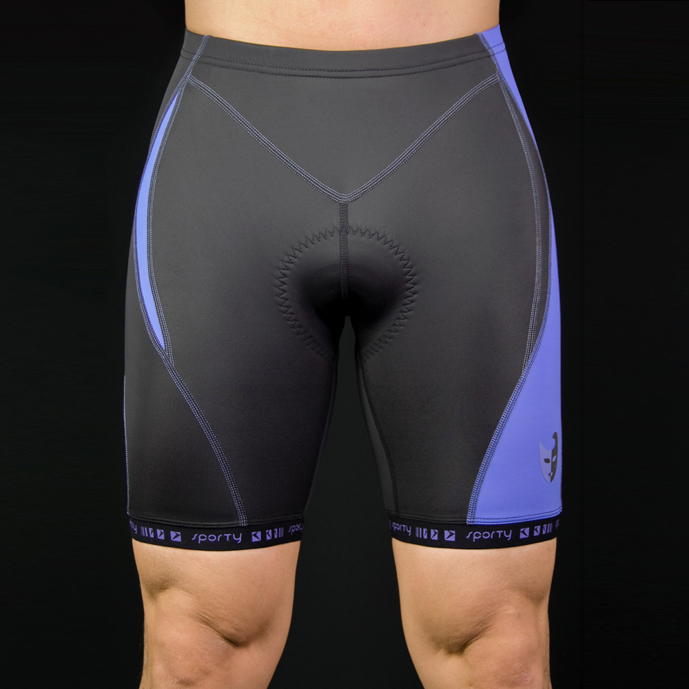 C-0600 男用競級Angus機能短車褲(黑/藍)