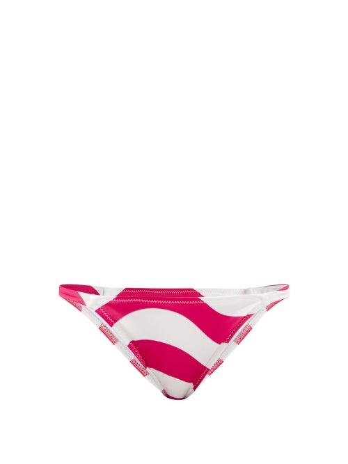 Solid & Striped - The Morgan Lollipop-striped Bikini Briefs - Womens - Pink Print
