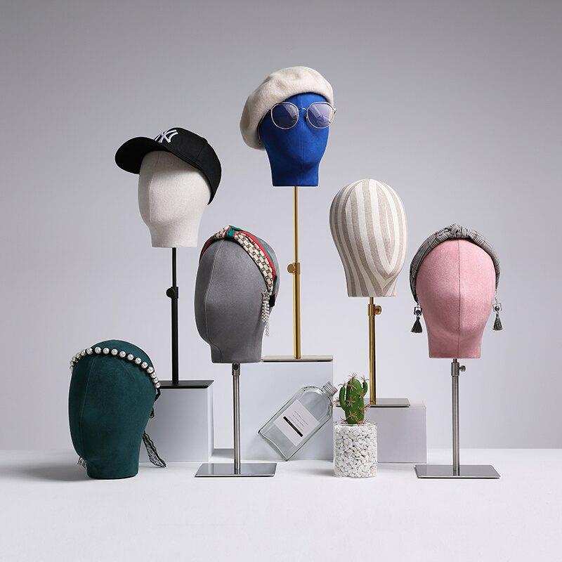 帽子展示架 帽子展示架模特頭道具服裝店櫥窗陳列裝飾假人頭假髮男女飾品頭模『XY18776』