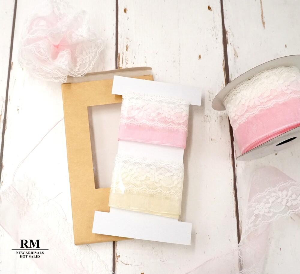 蕾絲手拉花禮盒 母親節花 包裝 裝飾 婚禮緞帶 蝴蝶結緞帶 康乃馨