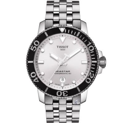 TISSOT 天梭 Seastar 1000海星陶瓷錶圈300米潛水機械錶(T1204071103100)