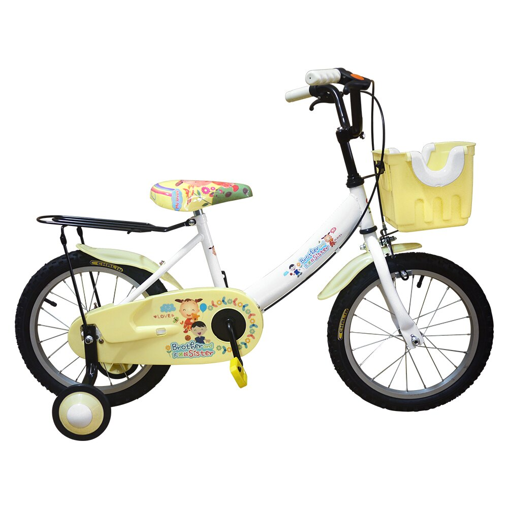 Adagio 16吋大頭妹打氣胎童車附置物籃-白米(台灣製造)(BEYJ174WW)「618購物節」