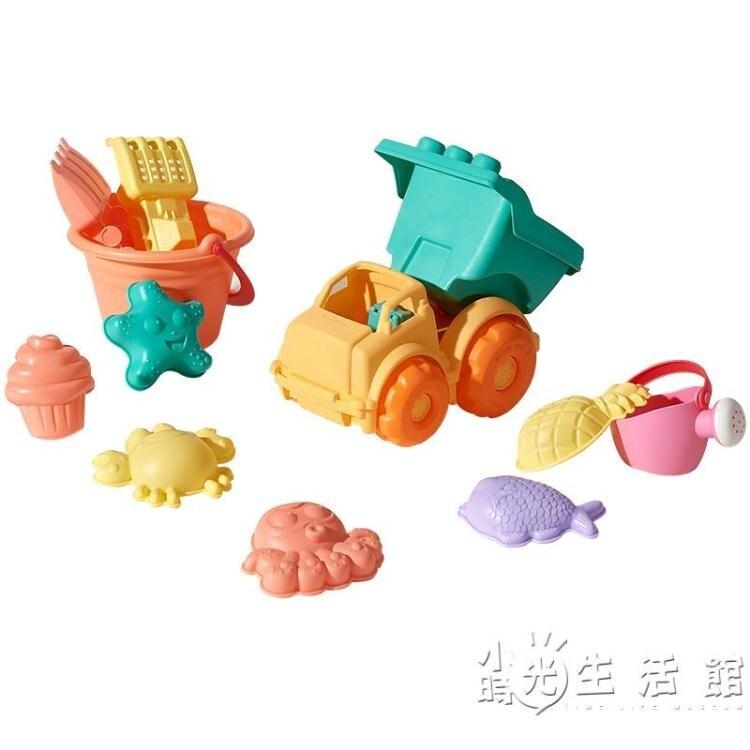 兒童沙灘玩具套裝寶寶挖沙鏟子小孩決明子玩沙戲水花灑玩具