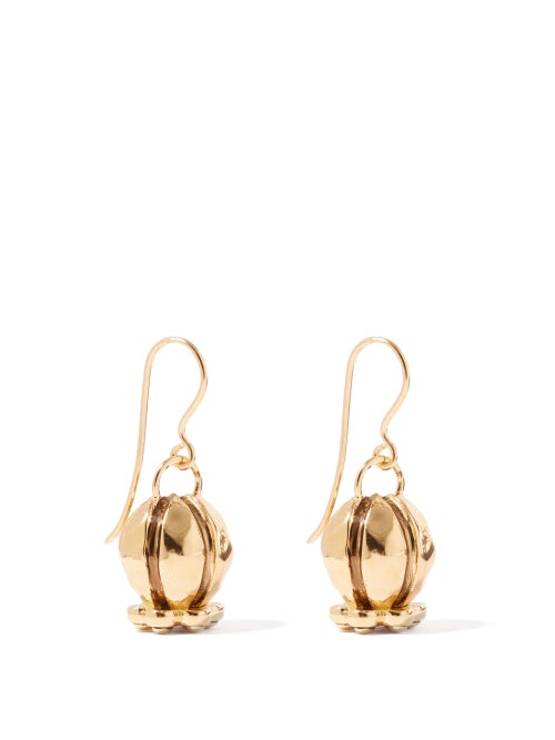 Aurélie Bidermann - Virginia 18kt Gold-plated Drop Earrings - Womens - Gold