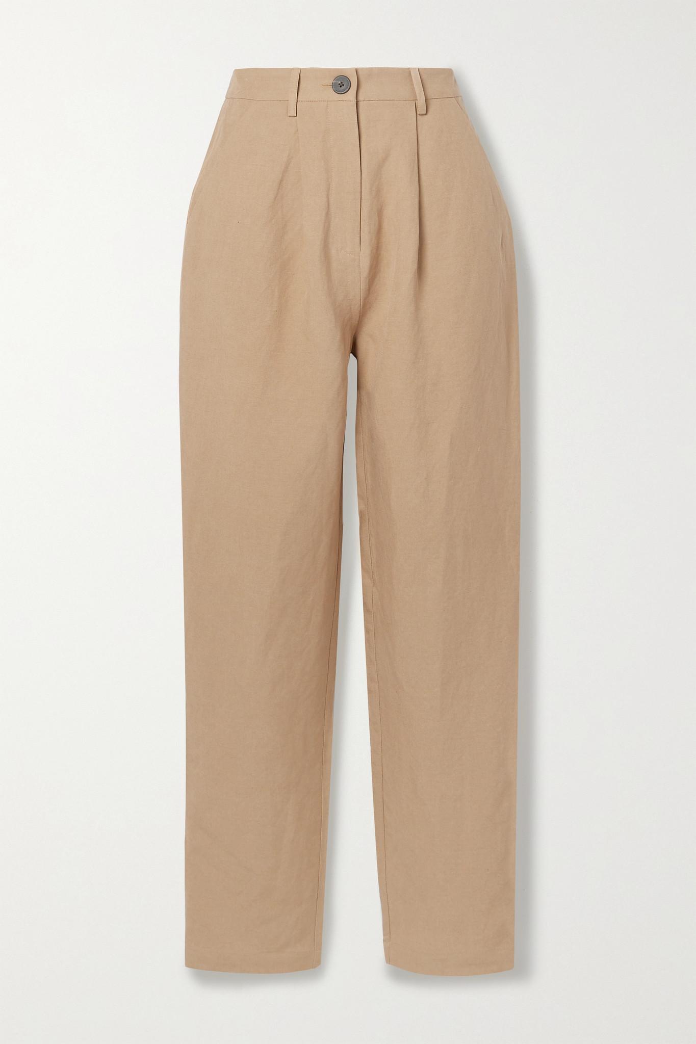 MARA HOFFMAN - + Net Sustain Dita Tencel And Linen-blend Straight-leg Pants - Brown - US00