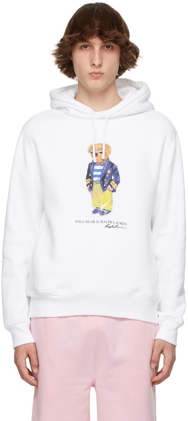 Polo Ralph Lauren 白色 Polo Bear 连帽衫