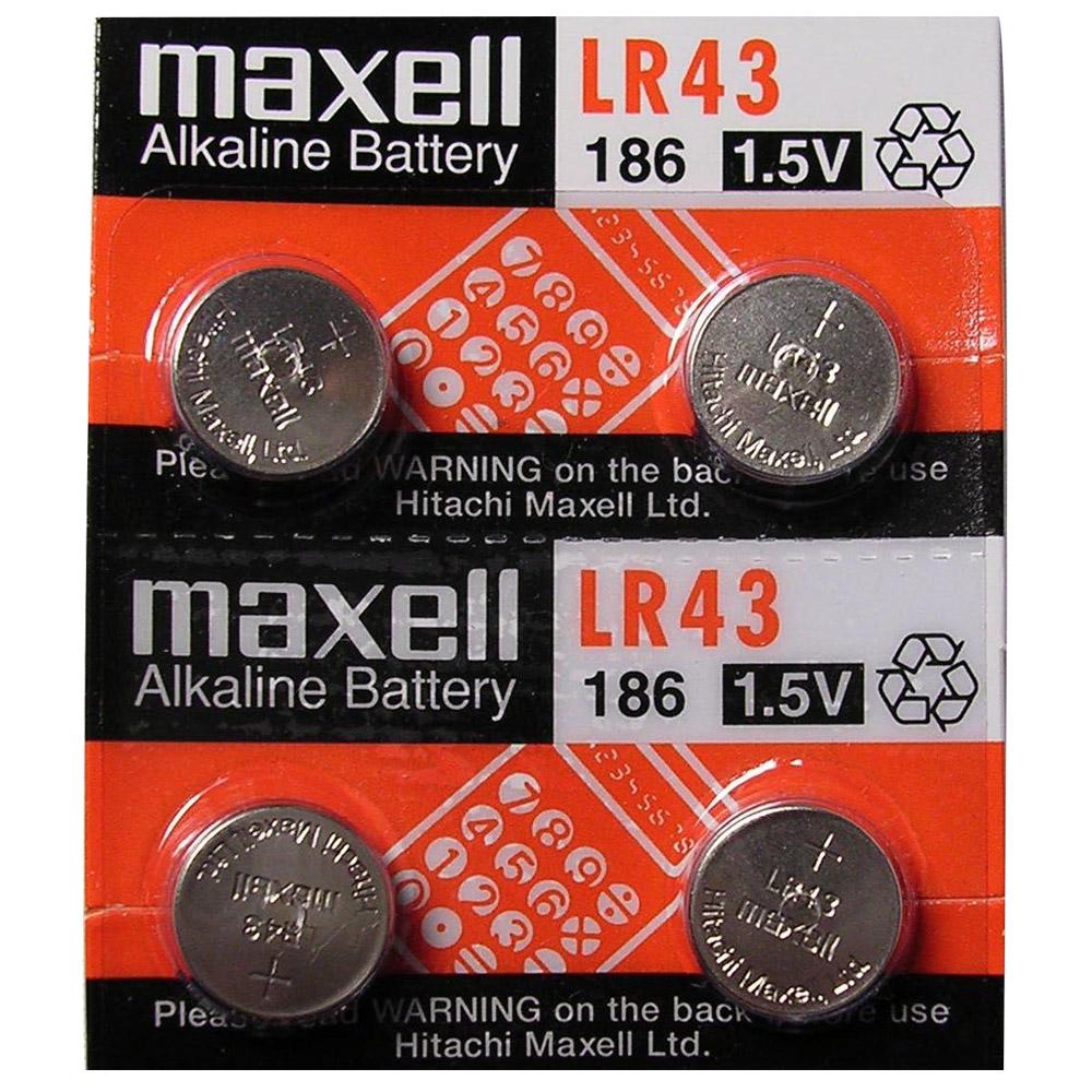 【Maxell】鈕扣型電池LR43 (10顆裝)
