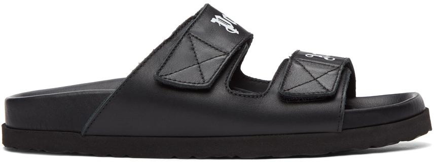 Palm Angels 黑色徽标凉鞋