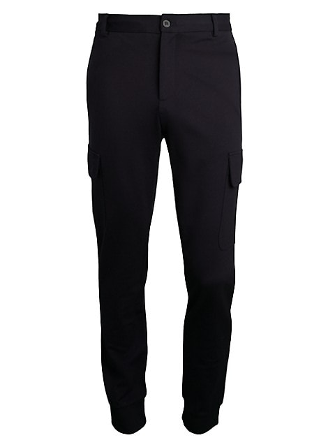 COLLECTION Modern-Fit Cargo Knit Joggers