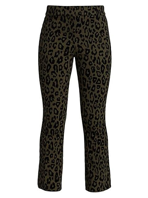 Corinna Leopard Print Flare Pants