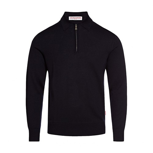 Grover Half-Zip Long Sleeve Merino Polo Shirt