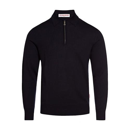 Grover Half-Zip Long Sleeve Merino Polo Shirt