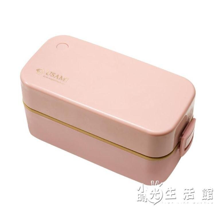 日式便攜餐盒套裝上班族微波爐便當盒分格型可愛少女心學生飯盒