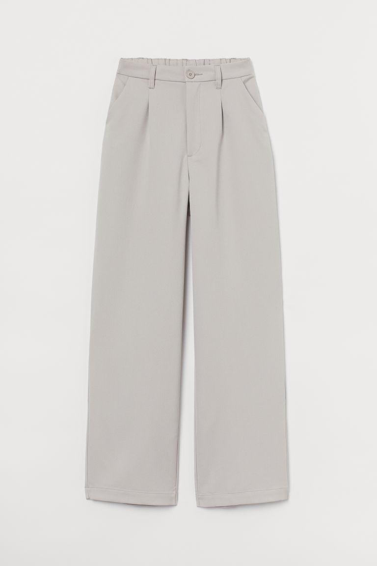 H & M - 寬管褲 - 褐色