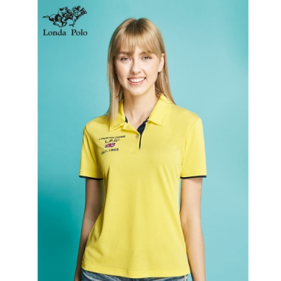 Londa POLO吸濕排汗女版短袖POLO衫(P206209黃)