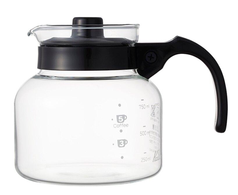 金時代書香咖啡 Kalita可微波手沖耐熱玻璃壺 750ml 塑膠手把 #31209