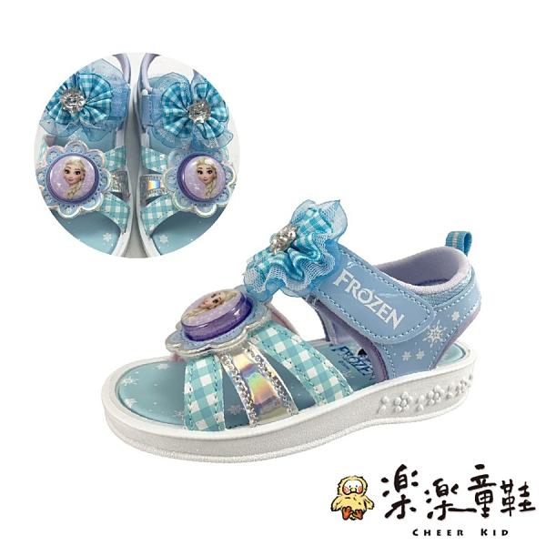 【樂樂童鞋】台灣製冰雪奇緣2電燈涼鞋 F056 - 女童鞋 涼鞋 大童鞋 兒童涼鞋 大童涼鞋 現貨 沙灘鞋