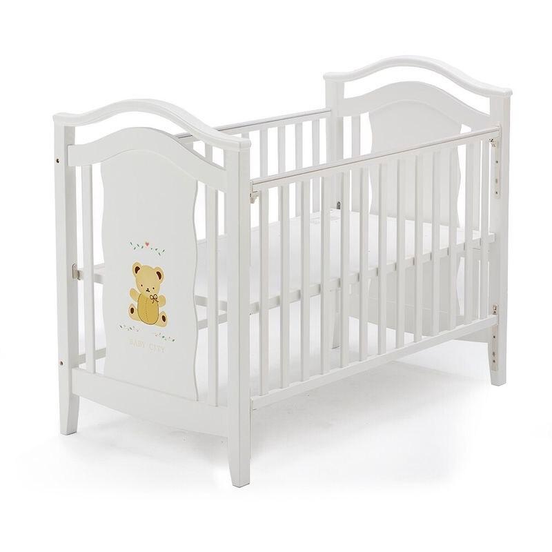 Baby City 娃娃城 鄉村古典熊大床(白)+床墊(BB49094W+BB4808006)★衛立兒生活館★