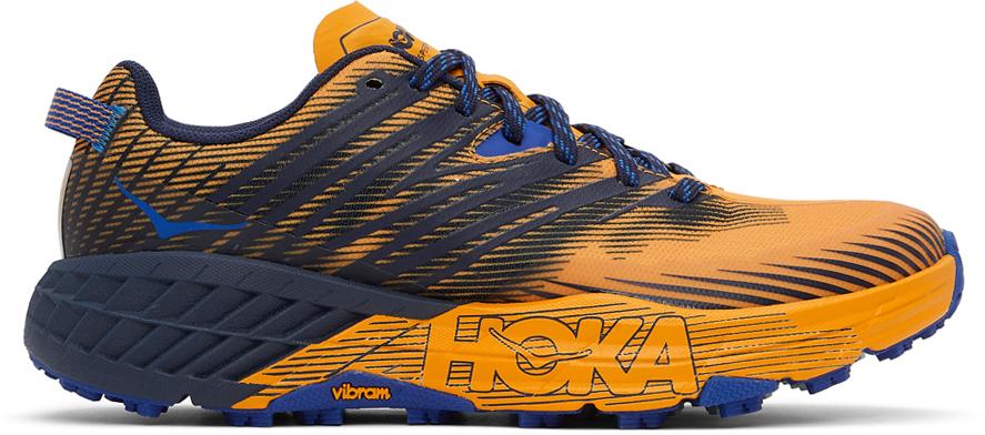 Hoka One One 橙色 & 黑色 Speedgoat 4 运动鞋
