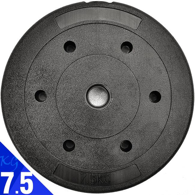 pvc包膠7.5kg水泥槓片(7.5公斤槓鈴片啞鈴片/重力重訓配件用品/重量)d192-b2075