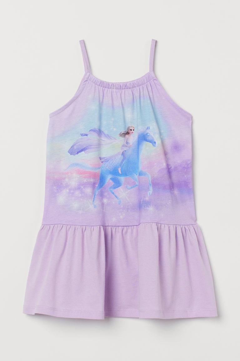 H & M - 圖案洋裝 - 紫色
