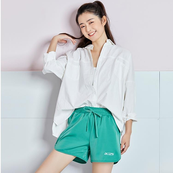 【Charm Beauty】運動短褲女薄款寬松高腰跑步健身褲子速干顯瘦夏季彩色瑜伽服外穿