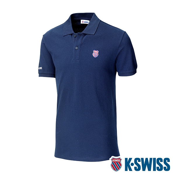 K-SWISS Vintage Polo短袖Polo衫-男-藍