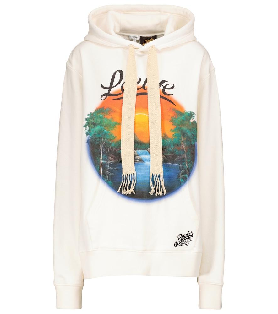 Paula's Ibiza printed cotton jersey hoodie