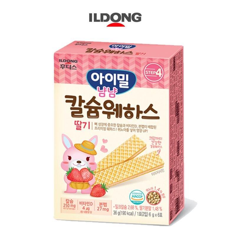 韓國 ILDONG 日東 藜麥威化餅36g-鈣+草莓口味★衛立兒生活館★