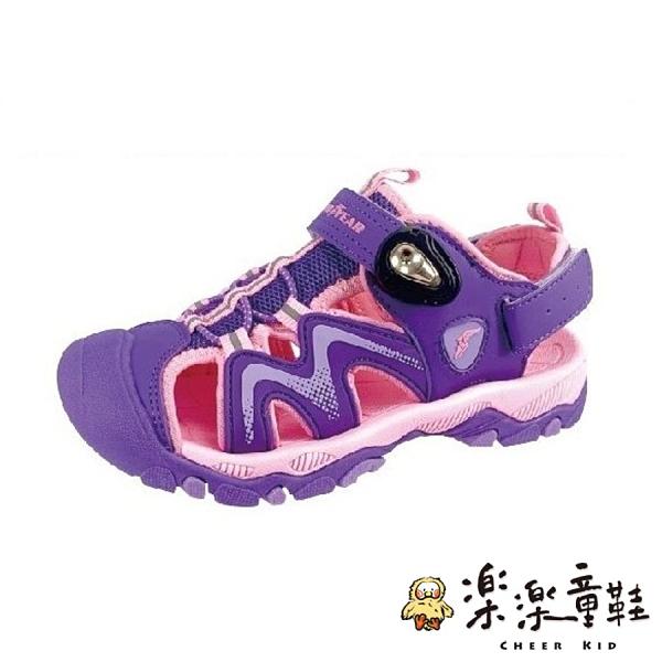 【樂樂童鞋】GOODYEAR大童涼鞋-紫粉 G009 - 女童鞋 男童鞋 涼鞋 大童鞋 大童涼鞋 兒童涼鞋 GOODYEAR