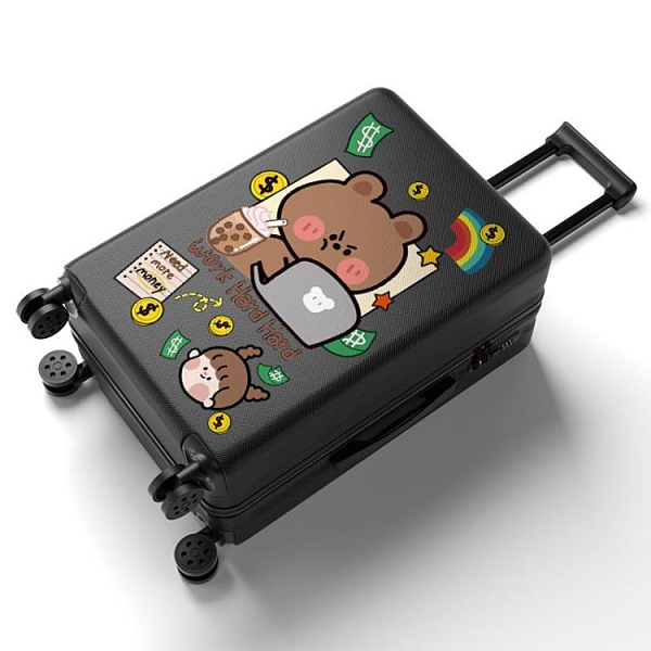 行李箱 行李箱女學生韓版拉桿密碼箱男卡通小清新旅行箱包大容量高顏值