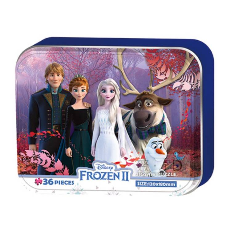 【P2拼圖】HPD-BX036003 Frozen2 冰雪奇緣2鐵盒 36片鐵盒拼圖