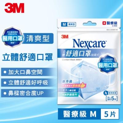 3M Nexcare 8660+ 清爽舒適口罩(M尺寸/5片包)