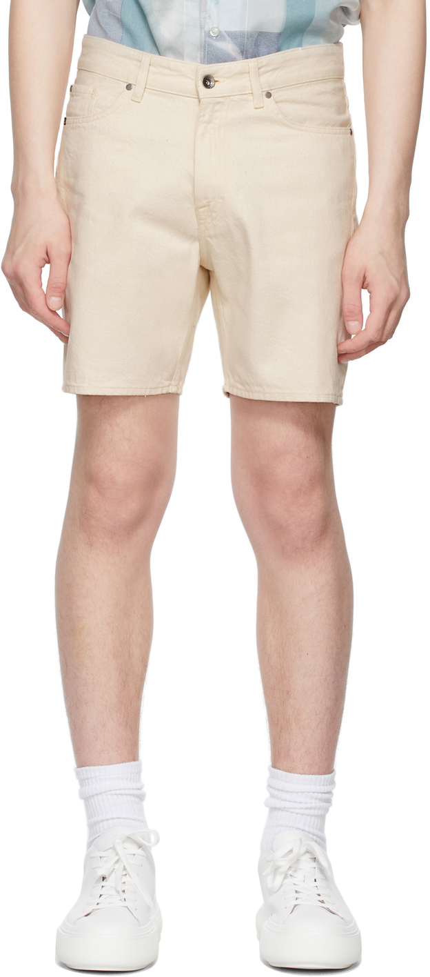 Tiger of Sweden Jeans 灰白色 Jin 牛仔短裤