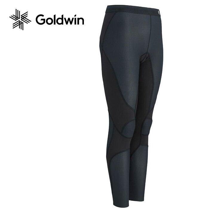 【Goldwin 日本】Impact Air 登山長褲 路跑壓縮褲 超彈性緊身褲 女款 黑色 (3FW4127U)