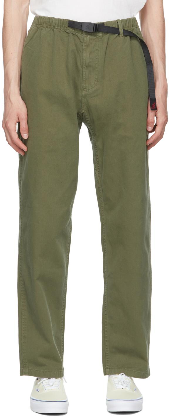 Gramicci 绿色斜纹长裤