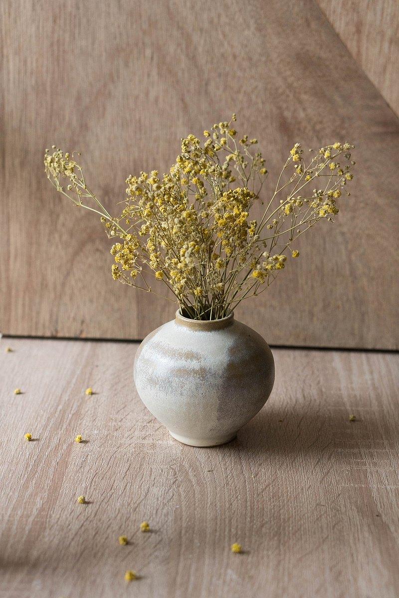 米白陶瓶 | 花器