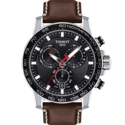 TISSOT 天梭 SUPERSPORT 競速賽車運動時尚錶(T1256171605101)45.5mm/咖啡