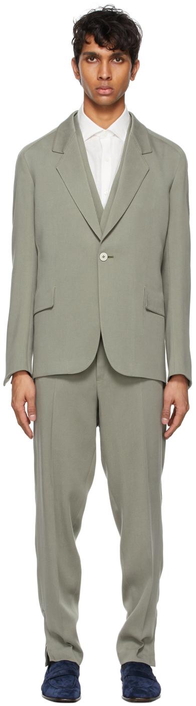 Ermenegildo Zegna Couture 灰色三件式西服套装