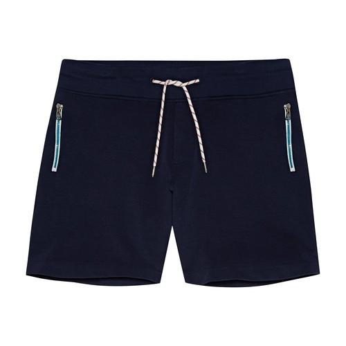Afador Contrast Zip Classic Fit Sweat Shorts