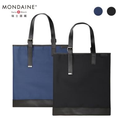 MONDAINE 瑞士國鐵 琴譜托特包 - 黑 / 藍