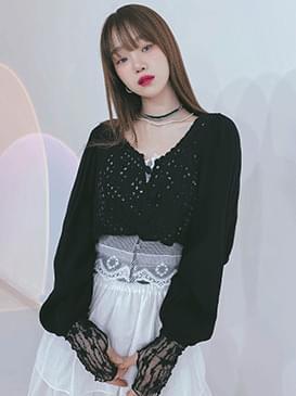 韓國空運 - Knitting Nat Crop Blouse 襯衫